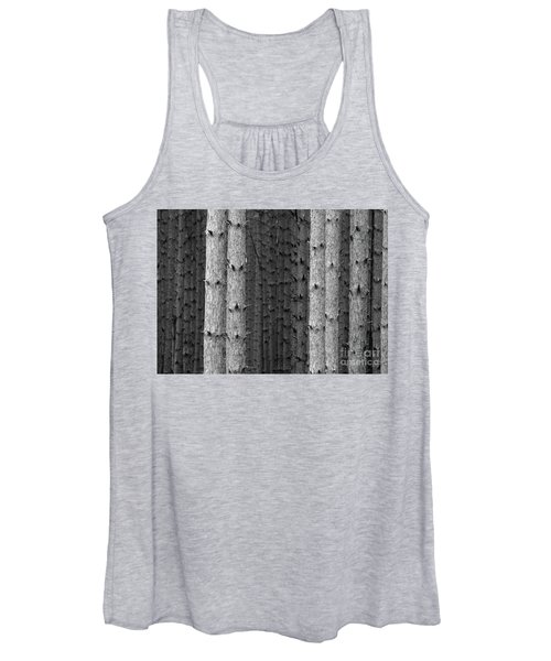 White Pines Black And White Women's Tank Top