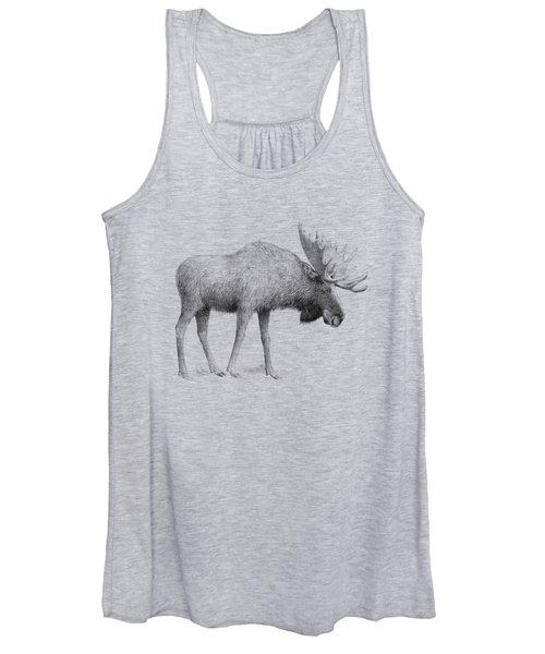 Winter Moose Women's Tank Top