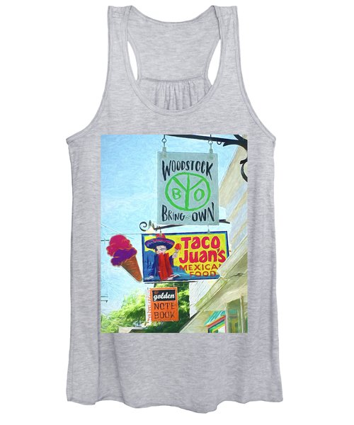 Woodstock Peace And Love 2 Women's Tank Top