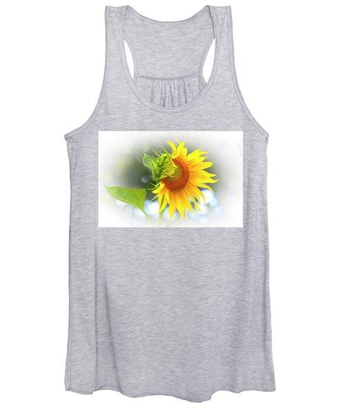 Yellow Petals Of Sunshine Women's Tank Top