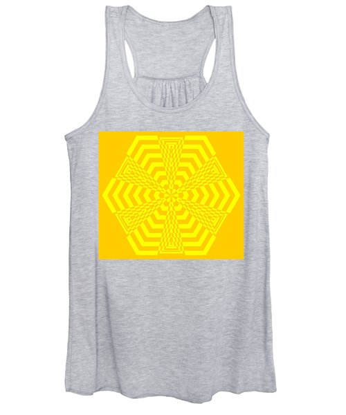 Young At Heart Yellow Women's Tank Top