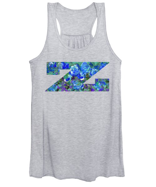 Women's Tank Top featuring the digital art Z 2019 Collection by Corinne Carroll