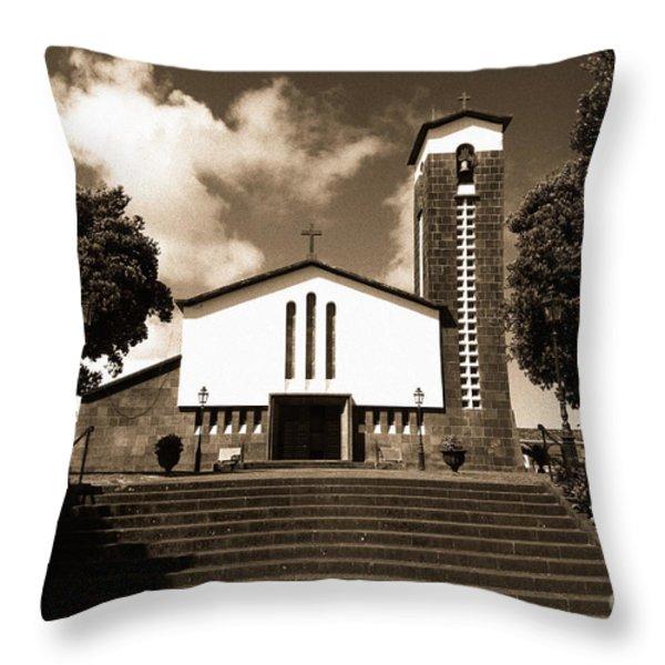 Azorean Church Throw Pillow by Gaspar Avila