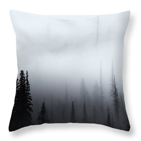 Piercing The Clouds Throw Pillow by Mike  Dawson