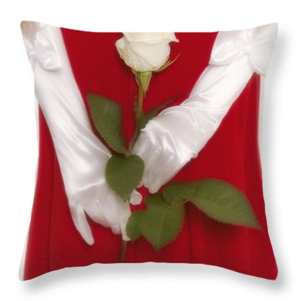 Rose Throw Pillow by Joana Kruse