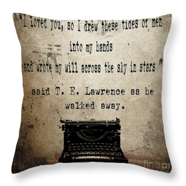 Said T E Lawrence Throw Pillow by Cinema Photography