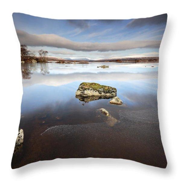 Lochan Na H-achlaise Throw Pillow by Grant Glendinning