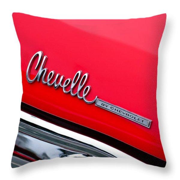 Chevrolet Chevelle Ss Taillight Emblem Throw Pillow by Jill Reger