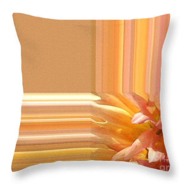 Dahlia named Intrepid Throw Pillow by J McCombie