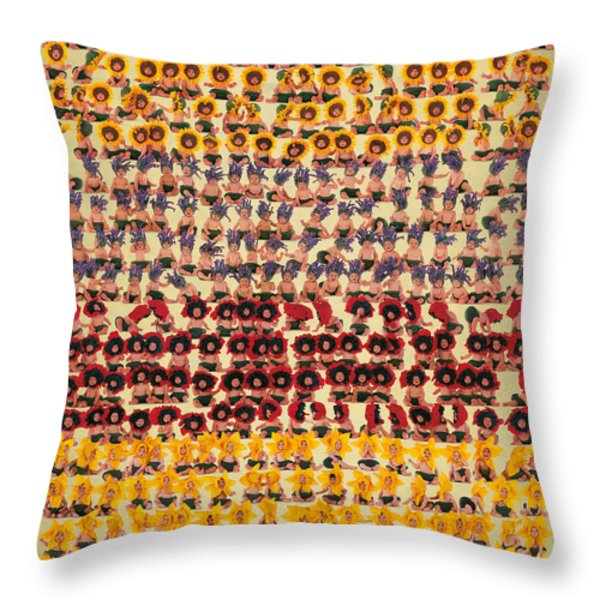 A Field In Provence Throw Pillow by Anne Geddes