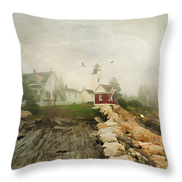 A Morning In Maine Throw Pillow by Darren Fisher