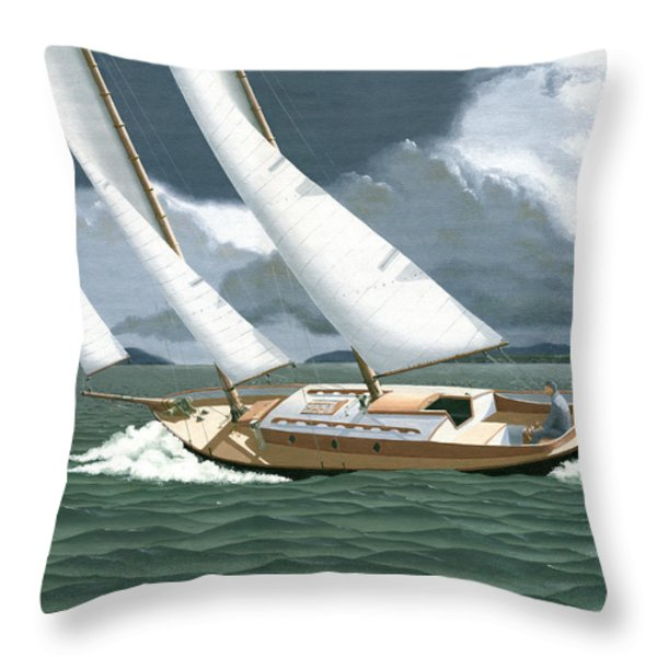 A passing squall Throw Pillow by Gary Giacomelli