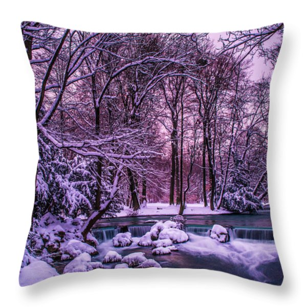 a winter's tale I - hdr Throw Pillow by Hannes Cmarits