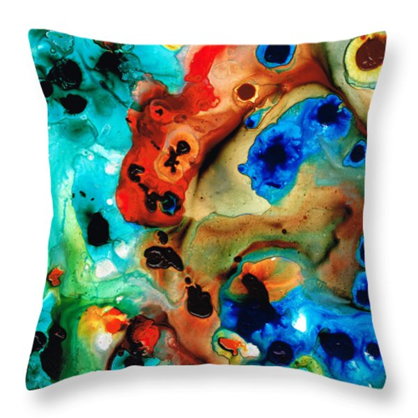 Abstract 4 - Abstract Art By Sharon Cummings Throw Pillow by Sharon Cummings