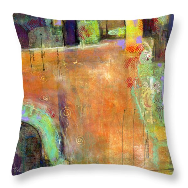 Abstract Painting Simple Pleasure Throw Pillow by Blenda Studio