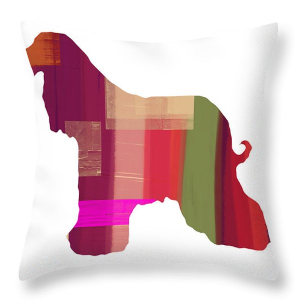Afghan Hound 2 Throw Pillow by Naxart Studio