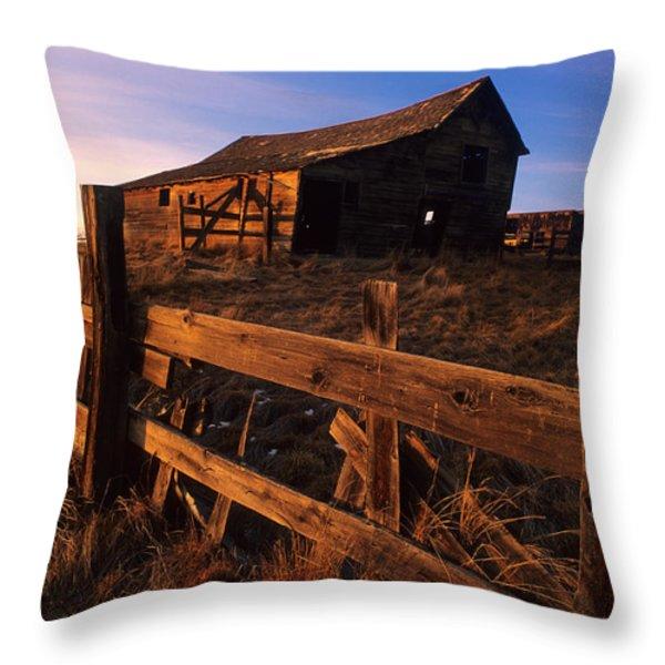Alberta Homestead Throw Pillow by Bob Christopher