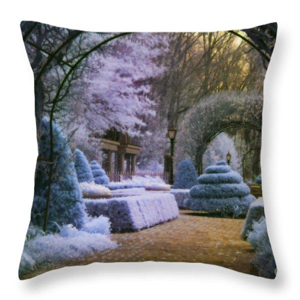 An English Garden Throw Pillow by Jason Kolenda