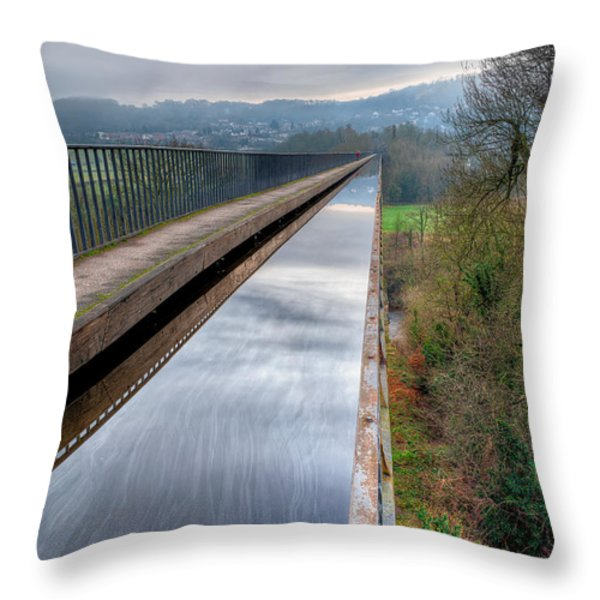 Aqueduct Throw Pillow by Adrian Evans