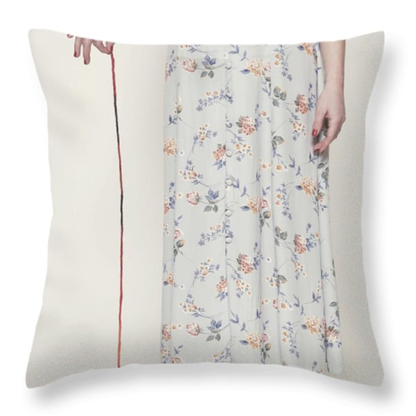 Ball Of Wool Throw Pillow by Joana Kruse