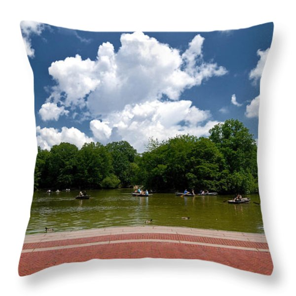 Bethesda Terrace Central Park New York Throw Pillow by Amy Cicconi