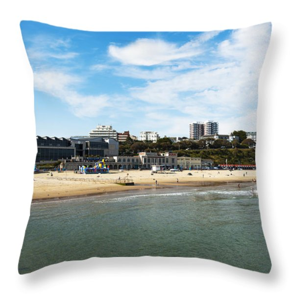 Bournemouth Bay Throw Pillow by Svetlana Sewell