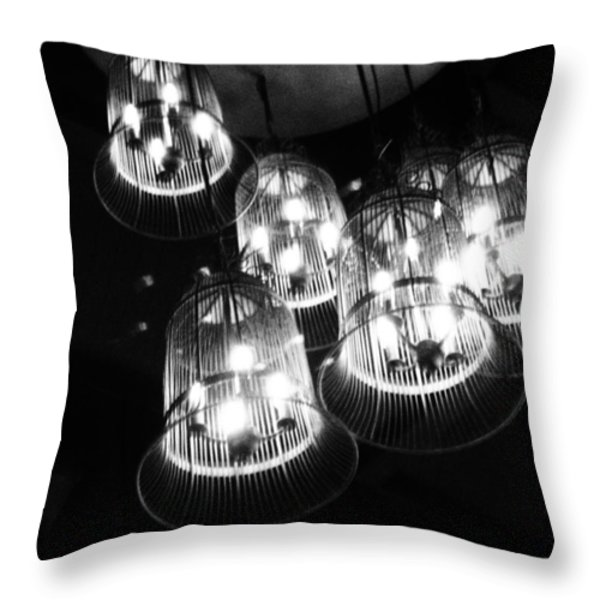 Caged Lights Throw Pillow by Justin Woodhouse