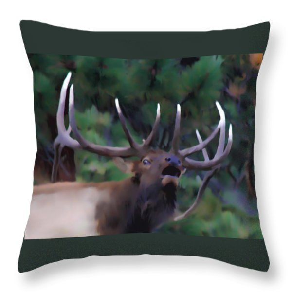 Call Of The Wild Throw Pillow by Shane Bechler