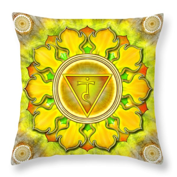 Chakra Manipura Series 2012 Throw Pillow by Dirk Czarnota