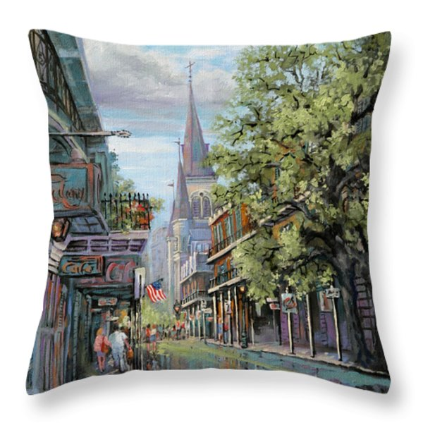 Chartres Rain Throw Pillow by Dianne Parks