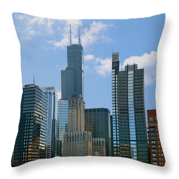 Chicago - It's Your Kind Of Town Throw Pillow by Christine Till