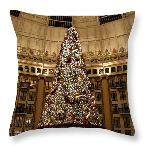 Christmas Tree Throw Pillow by Sandy Keeton