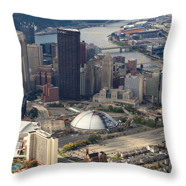 City Of Champions In Color Throw Pillow by Emmanuel Panagiotakis