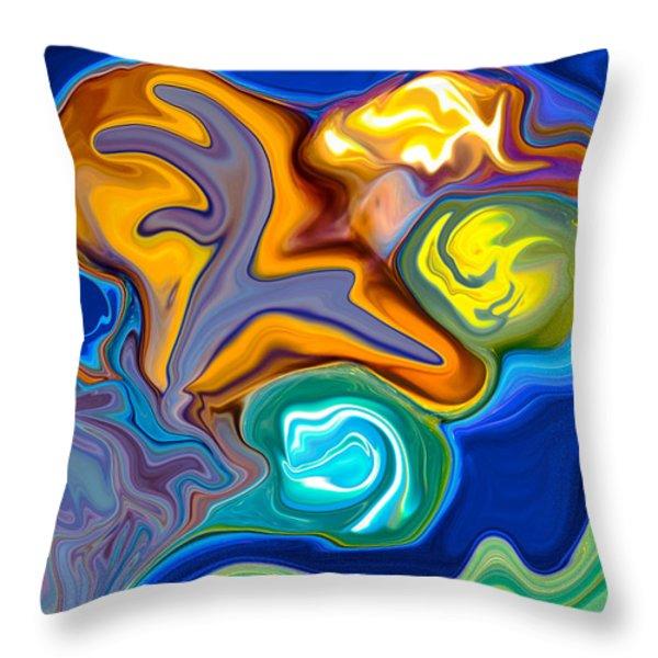 Contemplation Throw Pillow by Omaste Witkowski