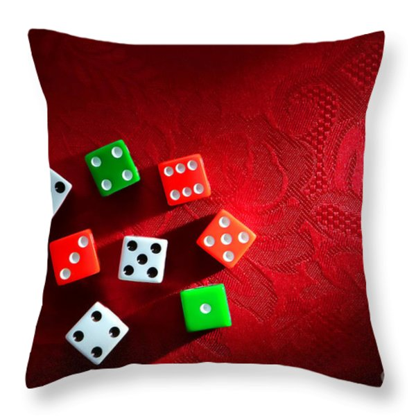 Craps  Throw Pillow by Olivier Le Queinec