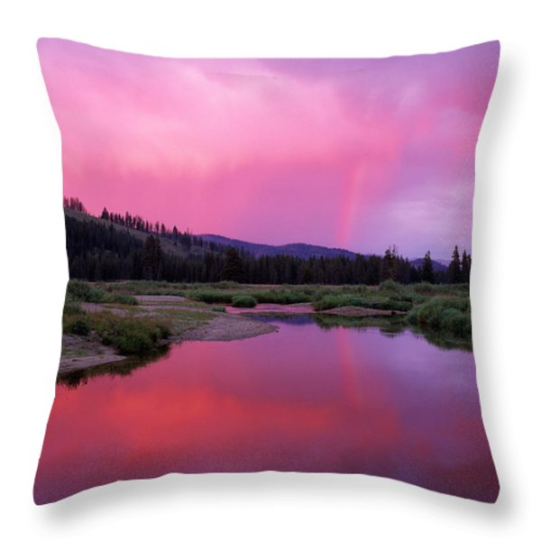 Deadwood River Throw Pillow by Leland D Howard