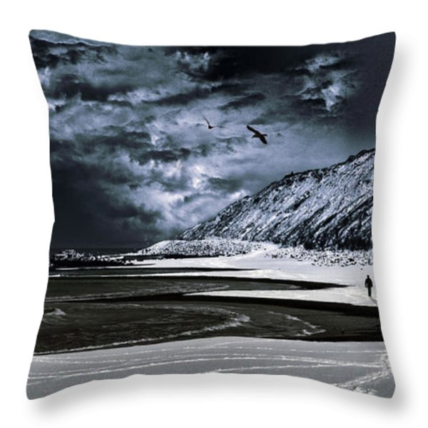 Deep Into That Darkness  Throw Pillow by Stelios Kleanthous