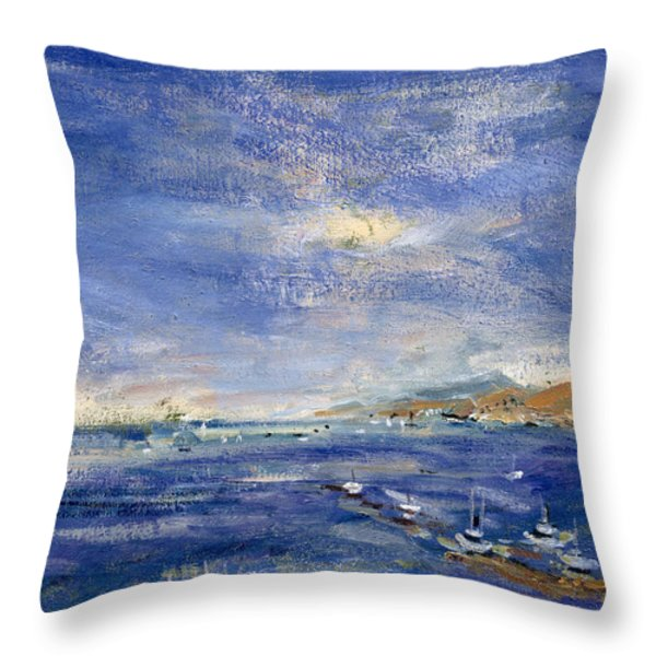 Desert Hills Throw Pillow by Patricia Espir