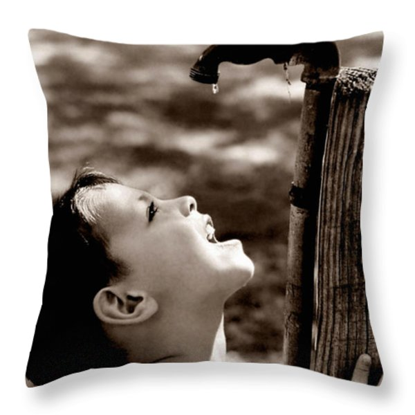 Drip Throw Pillow by Trish Mistric