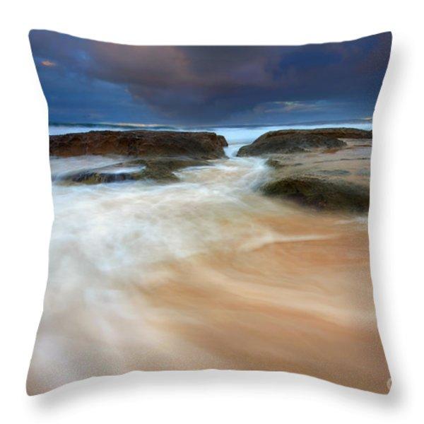 Ebb Tide Sunrise Throw Pillow by Mike  Dawson