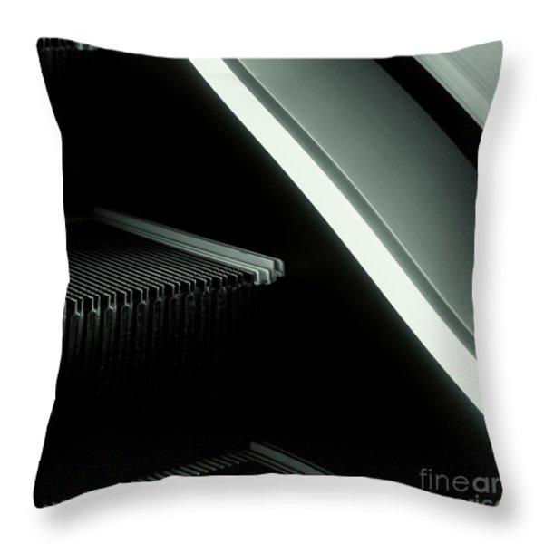 Escalator 04 Throw Pillow by Noir Blanc