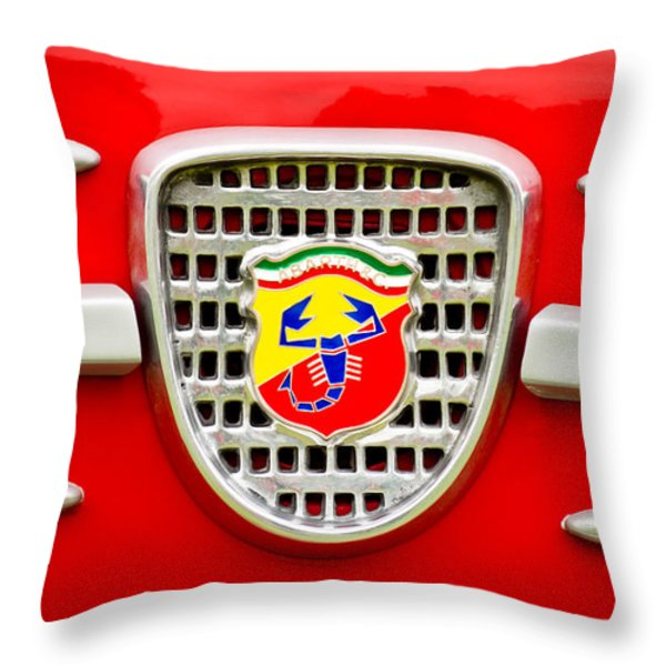 Fiat Emblem Throw Pillow by Jill Reger