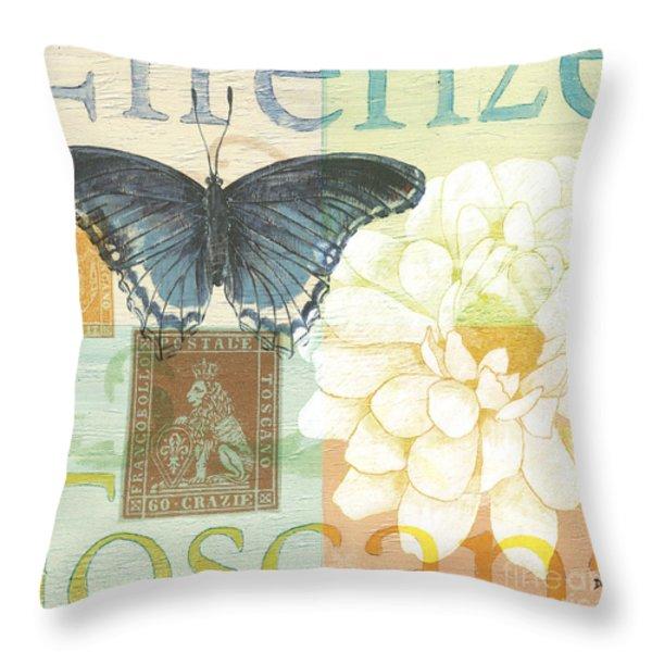 Firenze Throw Pillow by Debbie DeWitt