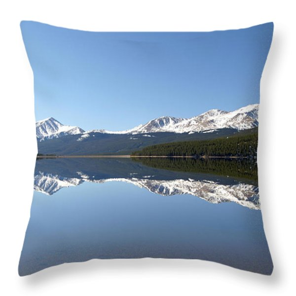 Flat Water Throw Pillow by Jeremy Rhoades