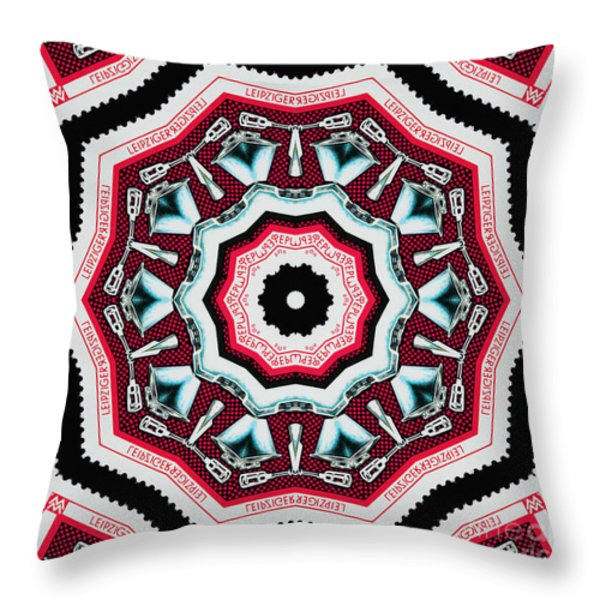 Food Mixer Mandala Throw Pillow by Andy Prendy