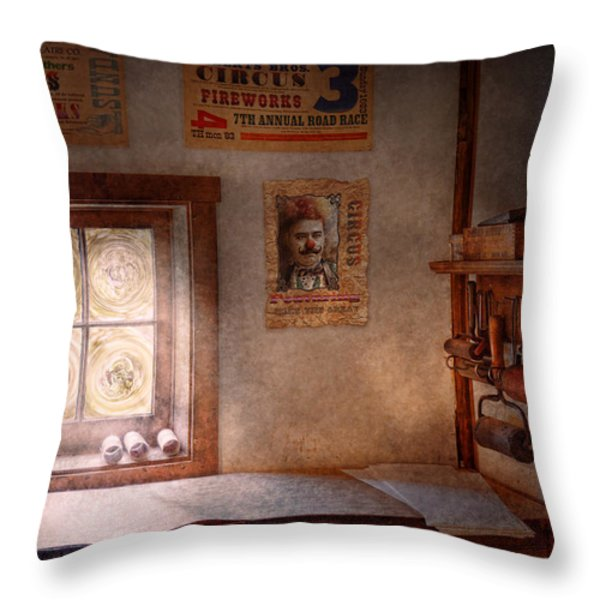 Graphic Artist - The Life Of A Proofer  Throw Pillow by Mike Savad
