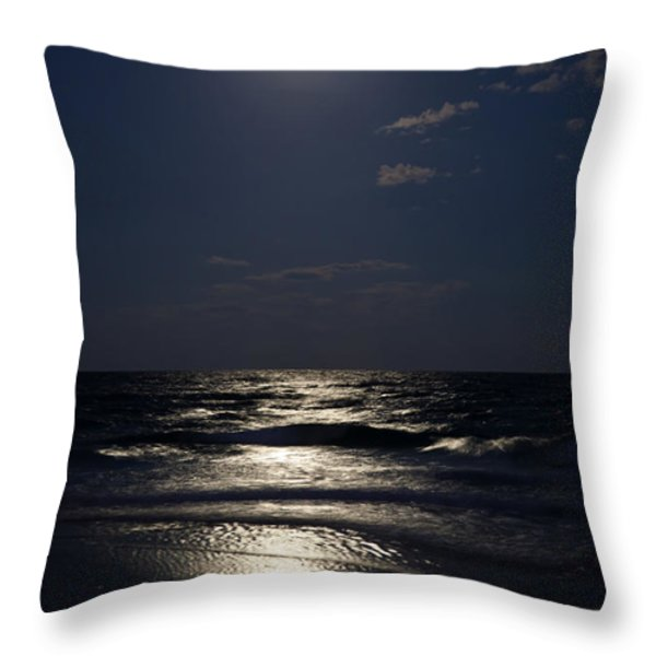 Hunter's Moon IV Throw Pillow by Michelle Wiarda