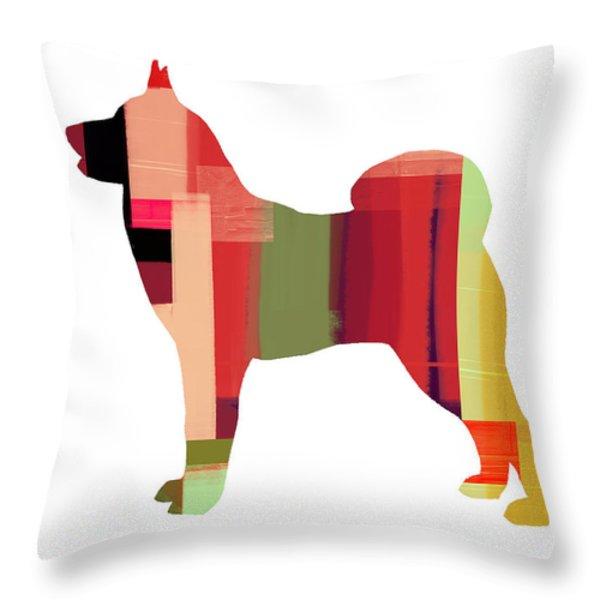 Husky Throw Pillow by Naxart Studio