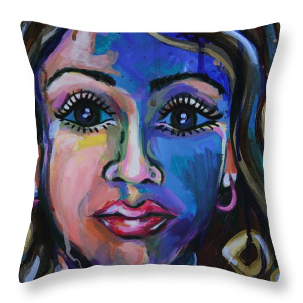 Iced Coffee Throw Pillow by Julia Pappas