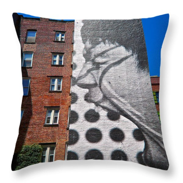 J R's Lakota At Mulberry And Prince Throw Pillow by Mark Miller
